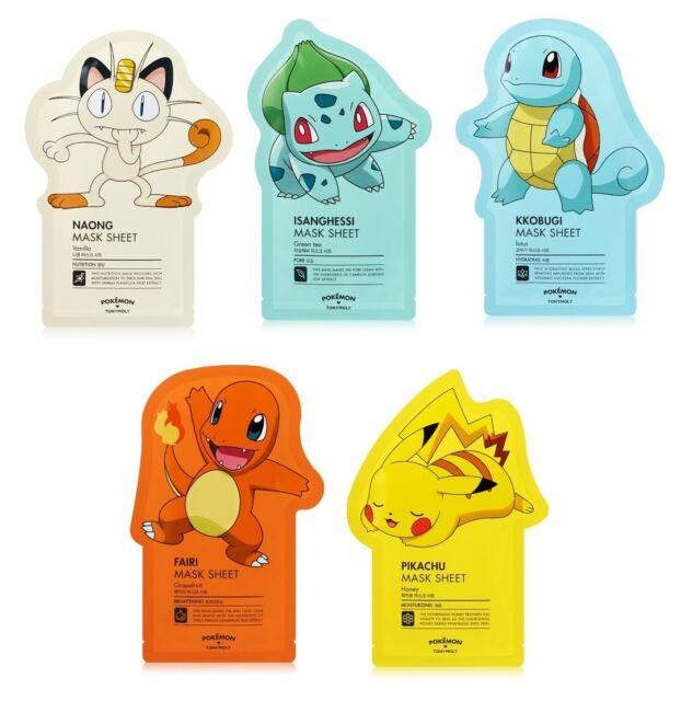 Tonymoly Pokemon Sheet Mask Pack (3 Sheet or 5 Sheet) Korean Cosmetic