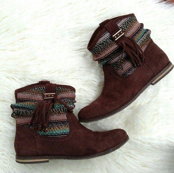 The Sak damen's Leather Ankle braun Stiefel Stiefelies braun Ankle Größe 9 24ad1a
