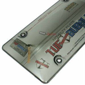 Smoked Tinted Tough Bubble License Plate Frame Cover