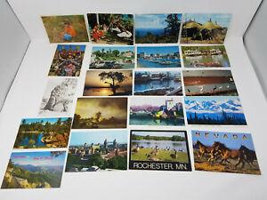 LOT-of-20-Vintage-Postcards-Unused-Africa-Ethiopia-Rembrandt-London-Nevada