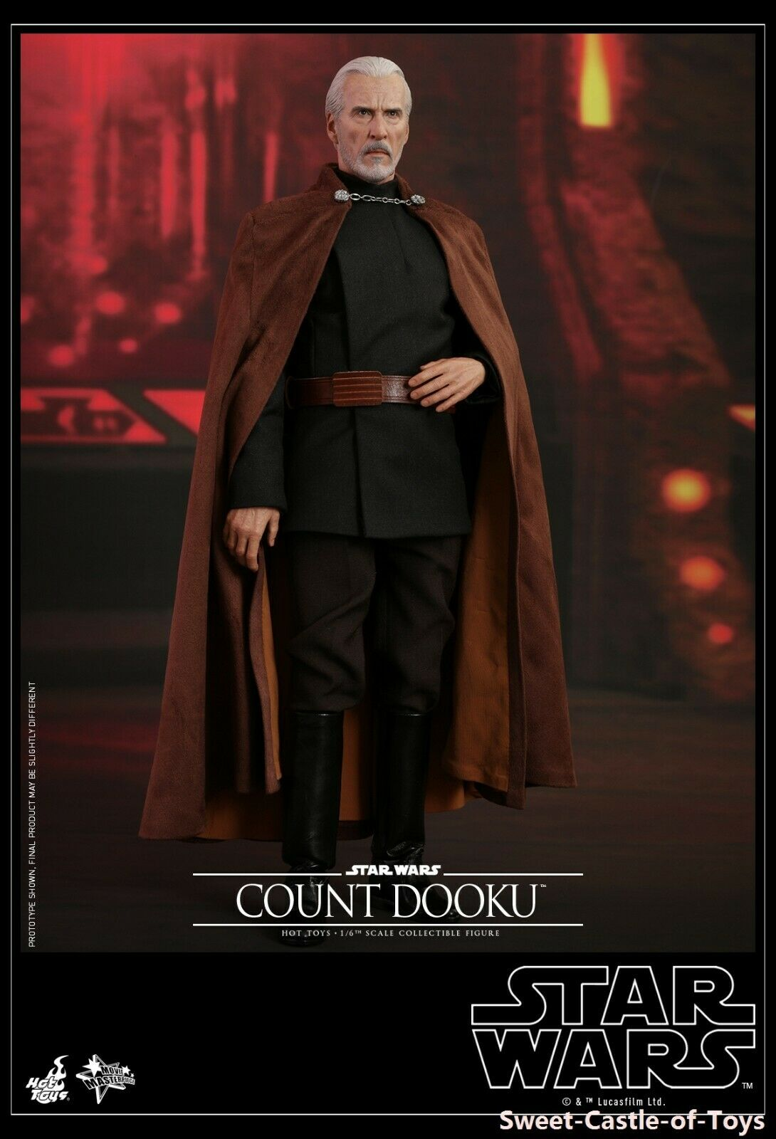1 6 Hot Toys Star Wars Episode II Attack of the Clones Count Dooku Figure MMS496
