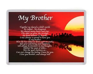 Image Is Loading Personalised My Brother Sunset Fridge Magnet Birthday Present