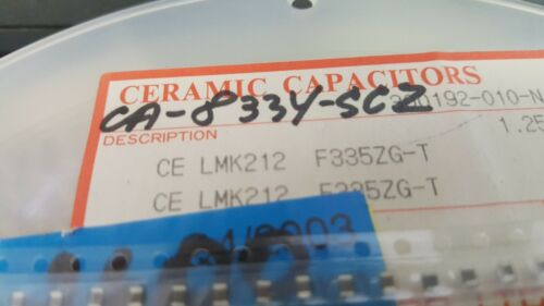 100x TAIYO-YUDEN  LMK212F335ZG-T 3.3uF 10V 20/% SMD 0805 Ceramic CAP
