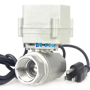 HSH-Flo 1 Inch 110Vac N//Open CF8 Motorized Electrical Ball Valve U.S Plug