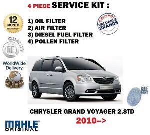 FOR-CHRYSLER-GRAND-VOYAGER-2-8DT-2010-gt-OIL-AIR-FUEL-POLLEN-4-FILTER-SERVICE-KIT