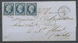 1856-20c-De-trop-sur-lettre-d-039-Avignon-a-St-Flour-bande-de-3-n-14-fonce-X4046