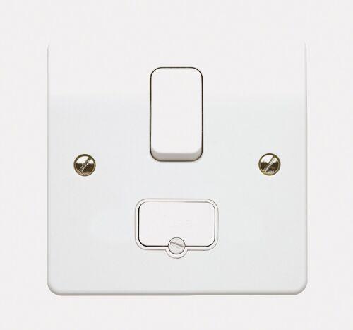 MK Logic Plus K330 WHI 13A Double Pole Switched Connection Unit//w.flex