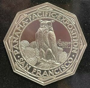 2015 - 2oz USA Panama Pacific Exposition Octagonal Fine Silver Round in Everslab