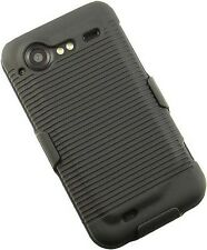 NEW BLACK CASE + BELT CLIP HOLSTER FOR VERIZON HTC DROID INCREDIBLE-2 S ADR6350