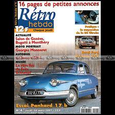 RETRO HEBDO N°4 GEORGES MONNERET PANHARD 17 FORD MUSTANG 289 AUTOBUS SOMUA OP5
