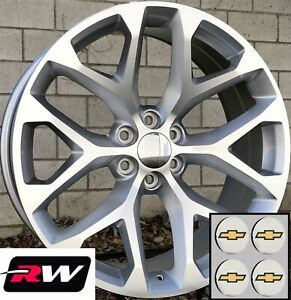 Details About 24 Inch Chevy Silverado 1500 Oe Replica Wheels Snowflake Rims Machined Silver