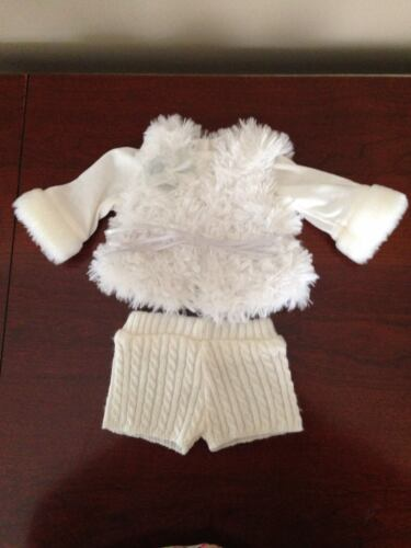 American Girl Doll Winter White Outfit MYAG Shirt, Shorts, and Vest
