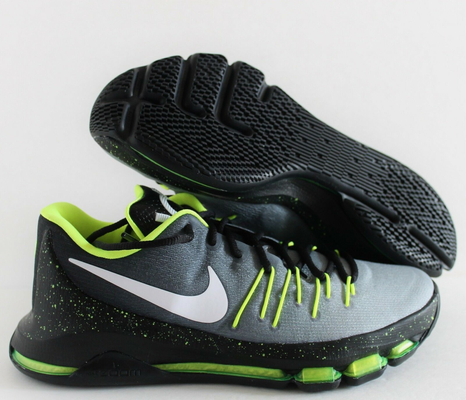Nike Men KD 8 VIII iD Grey-Black/Volt Kevin Durant Price reduction Great discount