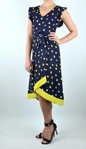 Phase-Eight-Stunning-Navy-amp-Yellow-Aurelia-Spot-Occasion-Wedding-Party-Dress