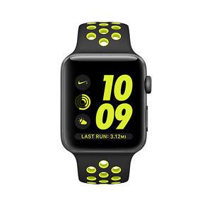 Stock photo; Apple Watch Nike+ 38mm Aluminum Case Black/Volt Sport Band -  Space Gray