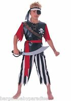 Pirate King Child Costume W/ Shirt Pants Waist Sash & Headband S 4-6