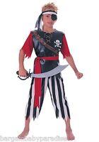 Pirate King Child Costume W/ Shirt Pants Waist Sash & Headband S 4-6