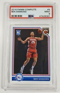 2016-17-Panini-Complete-Ben-Simmons-4-Rookie-RC-PSA-9