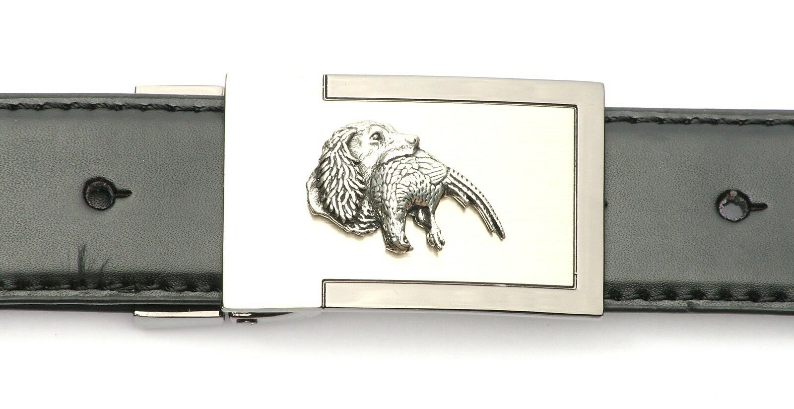 Spaniel n Pheasant Belt Buckle and Leather Belt in Gift Tin Ideal Shooting 338