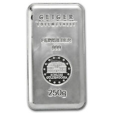 250 Gram Silver Geiger Security Line Bar