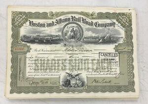 Boston-and-Albany-Railroad-Company-Stock-Certificate-WWII-Era