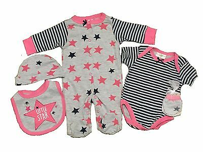 NEW BABY BOY/'S 5 PIECE ELEPHANT LAYETTE SET SIZE NB TO 6 MONTHS