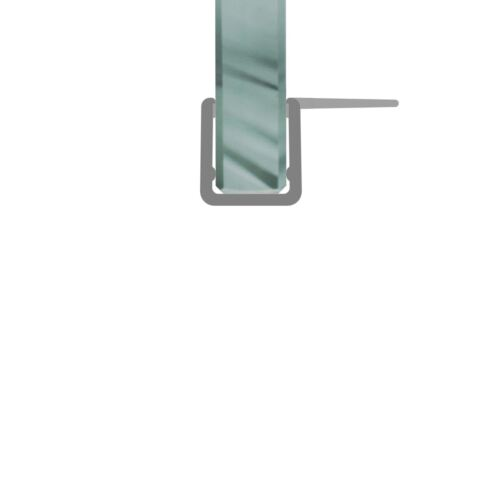 Duschdichtung Duschprofil Schwallschutz Anschlagdichtung 2m 5-6mm Glasstärke