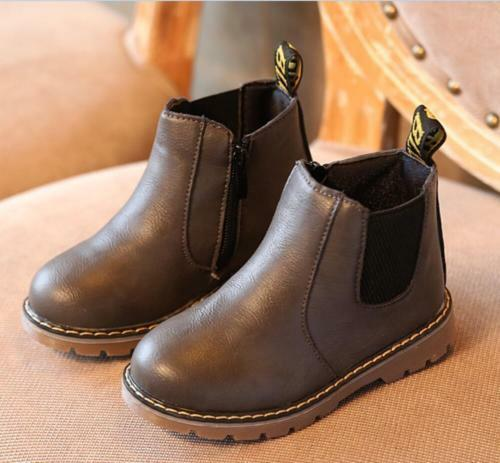 children Korea Retro Fall Unisex Shoes contracted Kids Flat Casual Single Boot