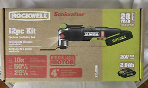 ROCKWELL RK 2701K Sonicrafter Oscillating Multi Tool w 11 Piece Kit NEW