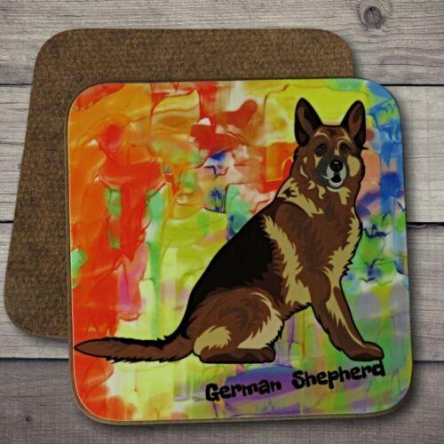 German Shepherd Gift. German Shepherd Art Coaster German Shepherd Dog Coaster