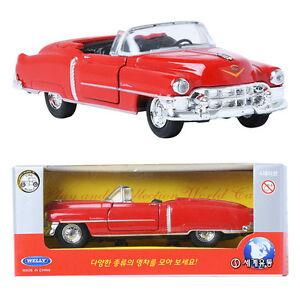 WELLY-1-34-1953-cadillac-Eldorado-Red-Toy-DIE-CAST-Toy-Model-car