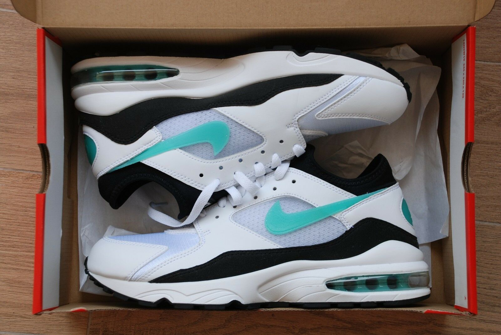 Nike air max 93 - misura 10 - 306551-107 nero dusty cactus retrò og Uomotolo qs