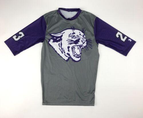 New Under Armour Men/'s L Northwestern Compression 1//2 Sleeve Football Shirt
