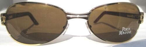 PORTA ROMANA 1021 color 100 Wood Sunglasses Gold New!