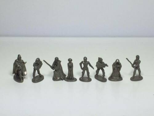 1997 pewter star wars figurines 8 game pieces