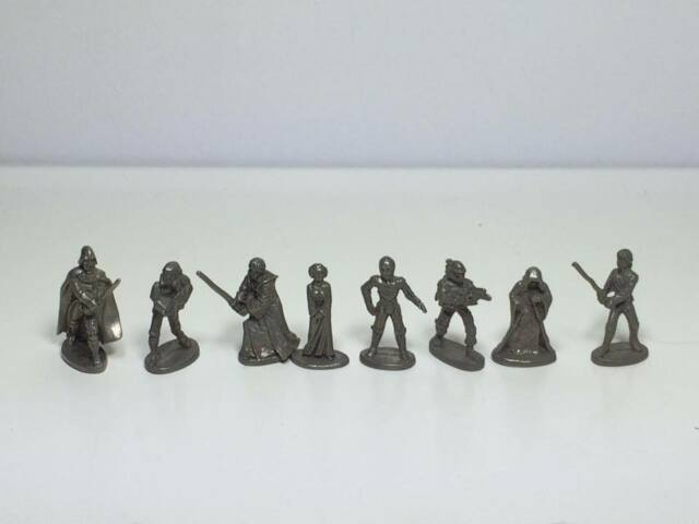 1997 pewter star wars figurines / 8 game pieces