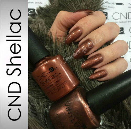 CND Shellac Power Polish Gel LEATHER SATCHEL from the CRAFT CULTURE Collection