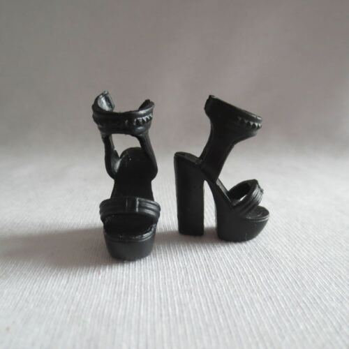 NEW Barbie Style Glam Luxe Fashionista Raquelle Doll Black High Heel Shoes