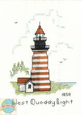 Cross Stitch Kit ~ Historic Lighthouse West Quoddy Light, ME #HD231 OOP SALE!