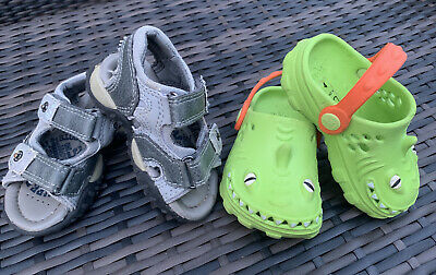 Green Crocodile Crocs Shoes UK Size