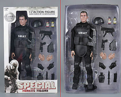 """1/6 Scale Super System S.W.A.T. 12"""" Action Figure Over Points of 30 Articulation"""