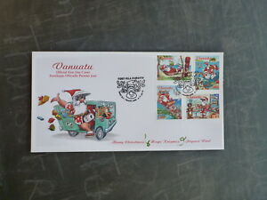 2013-VANUATU-CHRISTMAS-SET-4-STAMPS-FDC-FIRST-DAY-COVER
