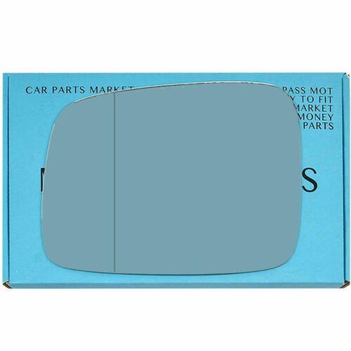 LHD Placa Izquierda Asférica Espejo De Vidrio Azul Para VW Transporter 2003-09 Calentado