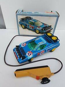 Lancia-Stratos-Joustra-filoguide-neuve-en-boite-d-039-origine-jouet-ancien-fonctionn