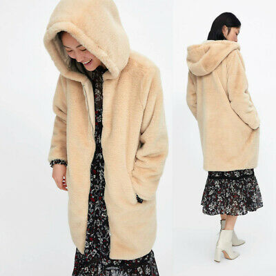 ZARA WOMAN CAPE Mantel Wolle Hand Made Beige Nude Coat Wool