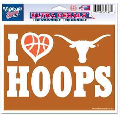 "Texas Longhorns 5/""x6/"" Decal"