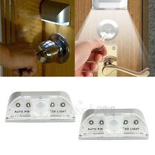 2pcs Auto PIR Sensor Infrared IR Wireless Motion Detector Door Keyhole LED Light