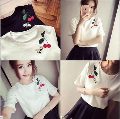 Fashion Girls Women T Shirts Korean Style Loose Short Sleeve Summer Blouses Tops Ebay