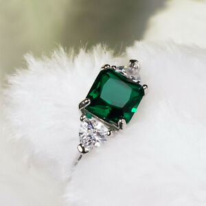 Smaragd-Gruenes-Rhinistin-Zircon-Saphirring-Zubehoer-fuer-Schmuck-Kristall-mode