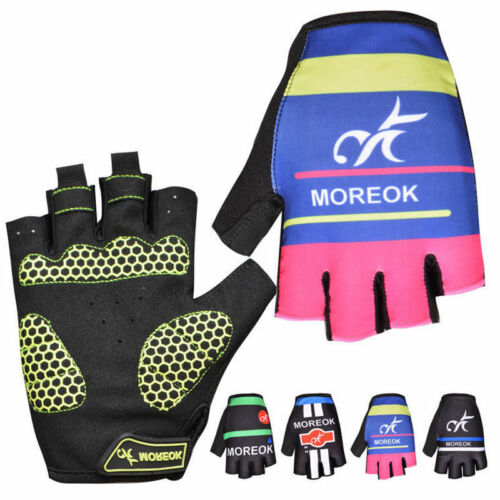 Cycling Half Short Finger Gloves Shockproof Breathable Sporting Biker Fingerless